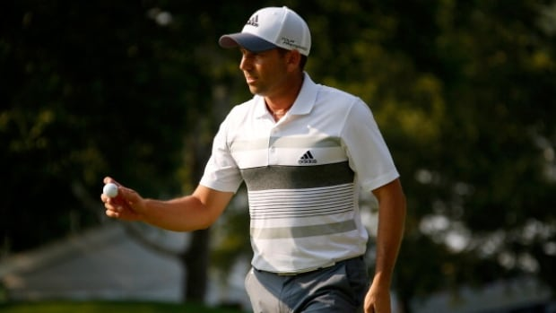 Sergio Garcia one-putted the final 11 holes and made birdies on his last seven holes Friday in the Bridgestone Invitational to tie the course record at Firestone with a 9-under 61 and take a three-shot lead into the weekend.
