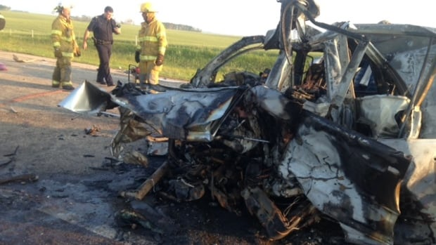 Fire crews from Balcarres and Fort Qu'Appelle responded to the crash at Highway 10 near Balcarres where both drivers died on scene