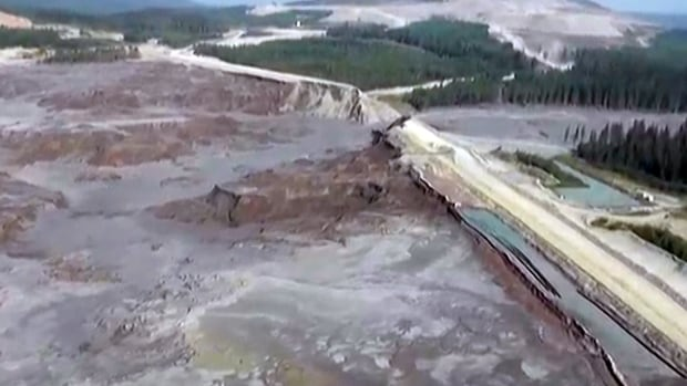The breach of a tailings pond at the Mount Polley copper and gold mine in B.C. has released five million cubic metres of mining wastewater into local waterways.