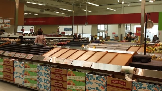 Trevor's Independent Grocer in Yellowknife is running low on produce after delivery trucks got stuck by the current closure of N.W.T. Highway 3.