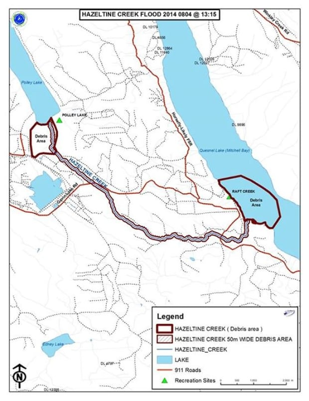 Hazeltine Creek map