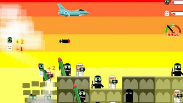 The Bomb Gaza game from PlayFTW invites people to drop bombs on Gaza and avoid killing civilians.