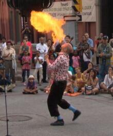 Fire breather international busker festival Ottawa Aug 5 2014