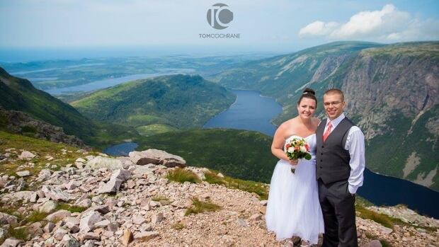 Adelle and Ryan MacDonald tied the knot on Gros Morne Mountain.