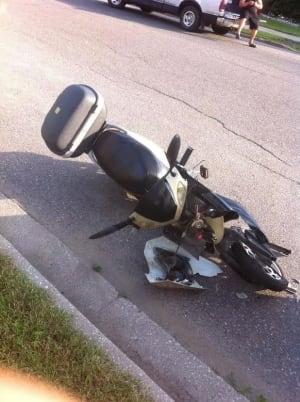 Damaged e-bike