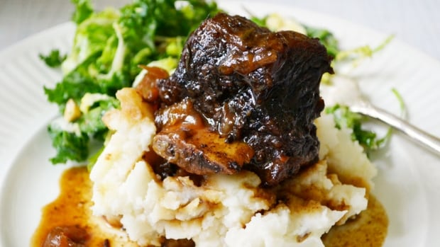 Braised bison shortribs