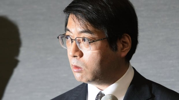 In this photo from April, 2014, Yoshiki Sasai, deputy chief of the RIKEN Center for Developmental Biology, speaks during a press conference in Tokyo. Police said Sasai, 52, was found at a government science institute Tuesday.