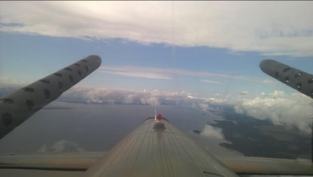 Lancaster leaves Goose Bay, N.L.