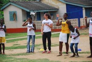 Laura Fortino in Ghana