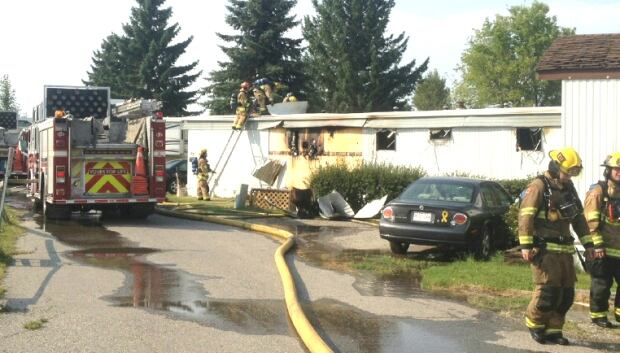 Blackfoot Mobile Home Park fire