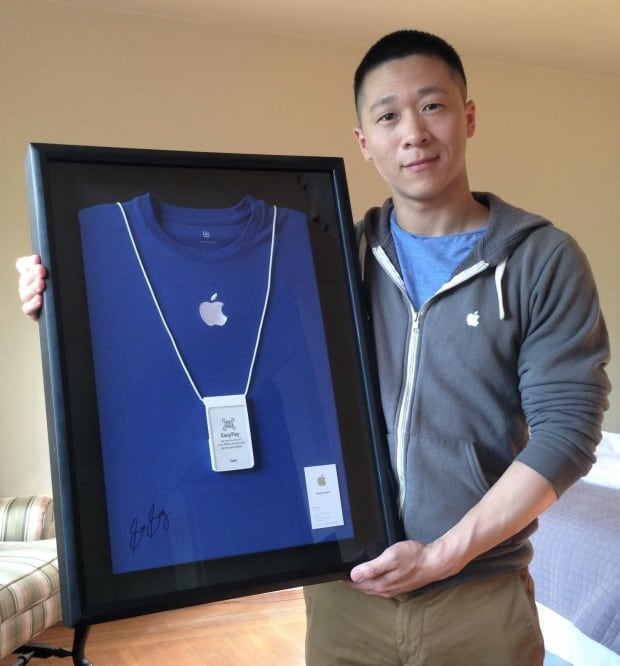 Sam Sung auctions business card Apple Specialist