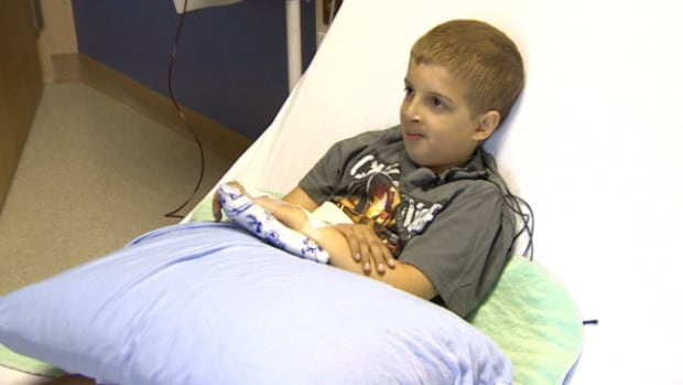 Hunter Kuzik has a rare form of anemia and requires a blood transfusion every three weeks.