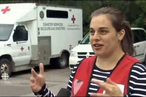Katie Elisio, co-ordinates disaster response for the Red Cross in Fredericton