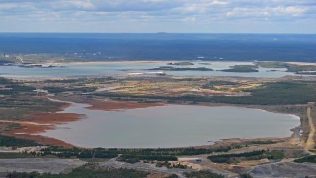 Following a disaster in British Columbia this week, questions are being raised in northern Ontario about the safety of storing mine waste in tailings ponds. Pictured here are tailings ponds in Sudbury, Ont.