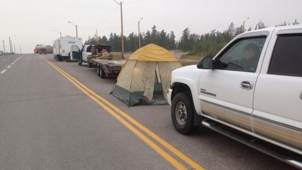 Some motorists camped out on Highway 3 this week near Behchoko, N.W.T., while waiting for the road to reopen. As of Thursday morning, all N.W.T. highways are open.