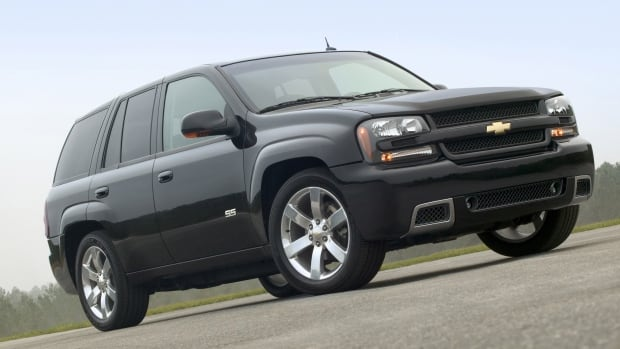 It's the third recall for the Chevy TrailBlazer SS sport utility vehicle, shown here in the 2006 model. A switch in the door can catch fire.
