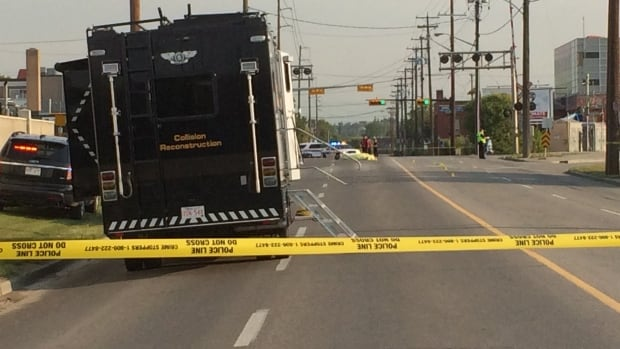 A man was killed Friday morning on Portland Street S.E. when his motorcycle collided with a truck.