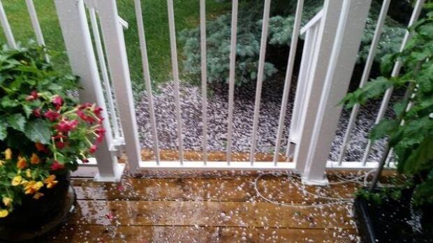 Calgary hail