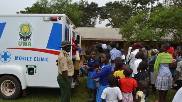 The Kibale National Park mobile clinic treats people for a variety of basic health-care needs, including family planning, nutrition, sanitation and STI awareness and treatment.