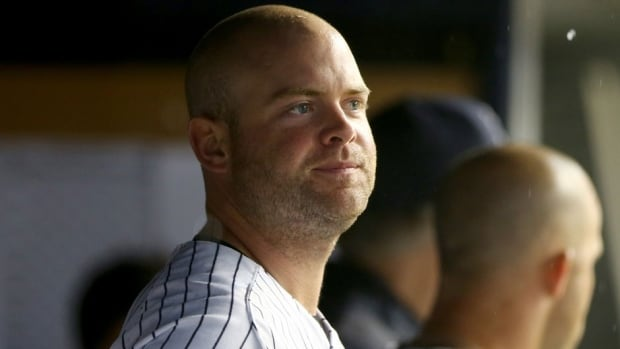 New York Yankees catcher Brian McCann was hit in the face by a foul ball on Friday night.