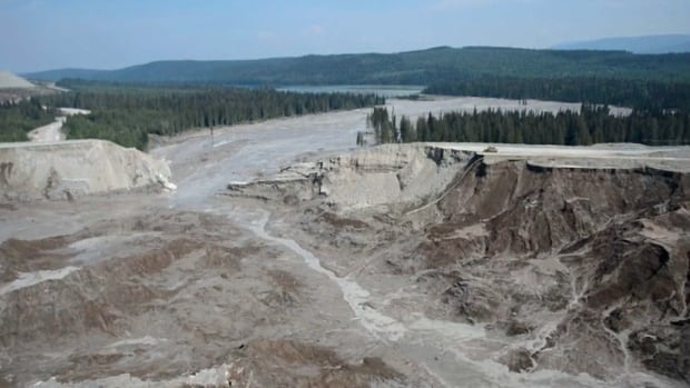 Mount Polley mine tailings pond failure sent an estimated 25 million cubic metres of mining waste and contaminated water into the local watershed.