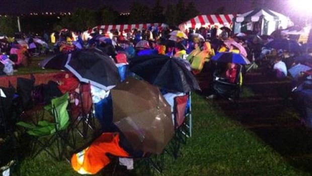 The crowd at the Newfoundland and Labrador Folk festival Friday before the evening's  events were cancelled.
