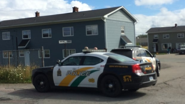Police responded to a report of a man with a gun inside a home on Johnstone Crescent Sunday.