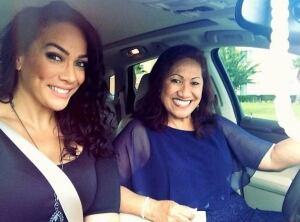 Lina Fanene and Ata Johnson