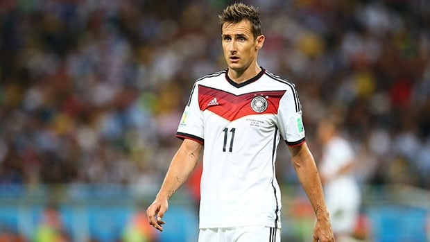 Miroslav Klose's two goals in Brazil gave him 16 for his World Cup career and helped lift Germany to its fourth title.
