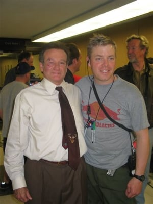 Shane Clements poses with Robin Williams