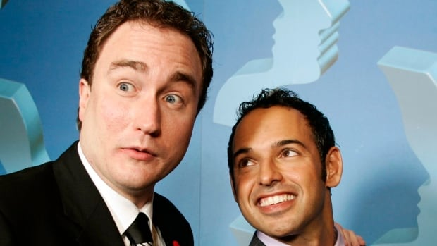 Shaun Majumder, right, and Mark Critch, seen in a file photo, were among the Canadian performers saddened by Robin Williams's death.