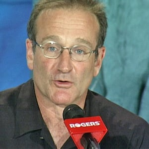 Robin Williams at 1999 news conference
