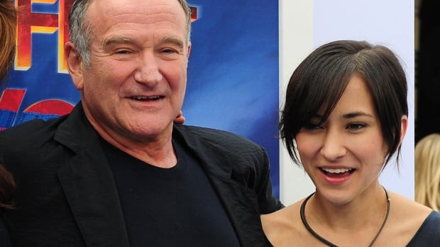 Robin Williams, with his only daughter Zelda, at a premiere in 2011, died Monday in what is believed to be a suicide. Zelda, 25, took to Twitter to express her grief.