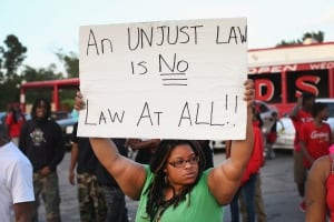 Michael Brown Missouri protest sign