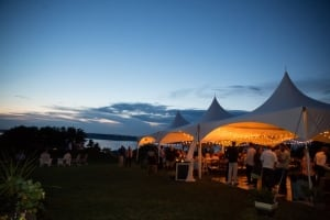 Aaron Powers and Pamela Reid's wedding tent by White Willow Photography