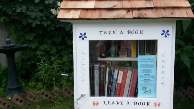 """Ken and Ghislaine Shields have created the latest Thunder Bay """"branch"""" of the Little Free Library."""