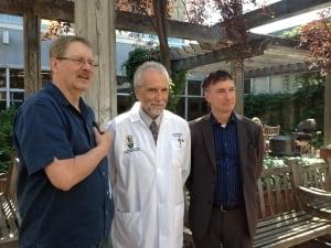 Doug Martens, Dr. Jerry Krcek and Howard Koks