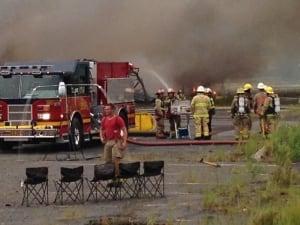 Flea market fire