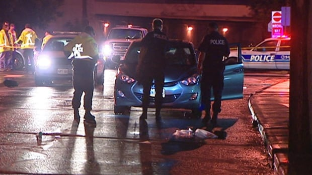 Ottawa police say they arrested a driver who fled after striking a pedestrian at the intersection of Kent and Catherine streets during the evening of Aug. 12, 2014.