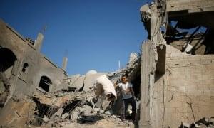 MIDEAST-GAZA-rubble