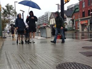 Carol Nixon and sidewalk grooves