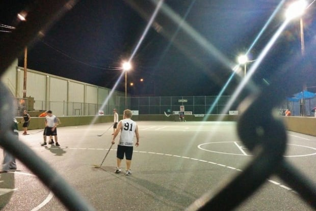 World's longest street hockey game attempt - Nanaimo, B.C., Aug. 2014