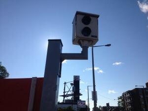 Red light camera in Hamilton