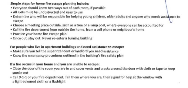 thunder bay fire rescue tips