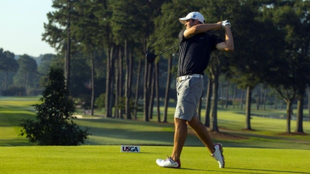 Corey Conners, of Kitchener, Ont., will face South Korean Gunn Yang in the U.S. amateur championship final.