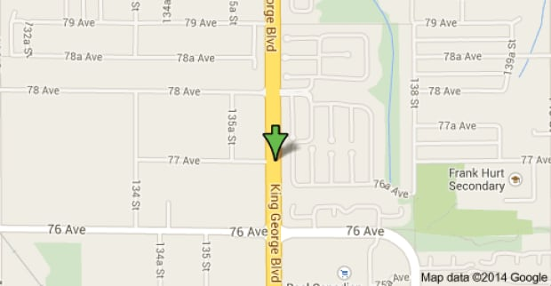 King George Boulevard and 77 Ave, Surrey, B.C.