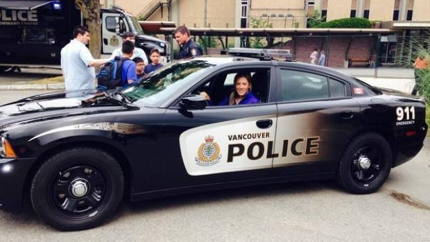 Ruthven's hockey star, Megan Agosta, has been hired with the Vancouver police force .