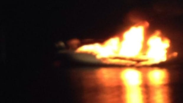 Firefighters in C.B.S. were called to this boat fire early Monday morning.