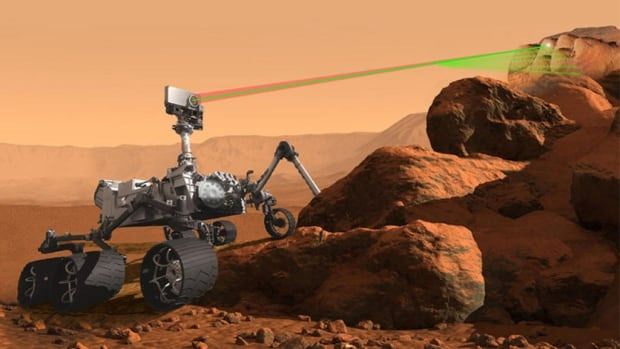The Mars 2020 rover will be equipped with seven tools, including the Supercam (seen above) and RIMFAX, ground-penetrating radar that will let it see underground.