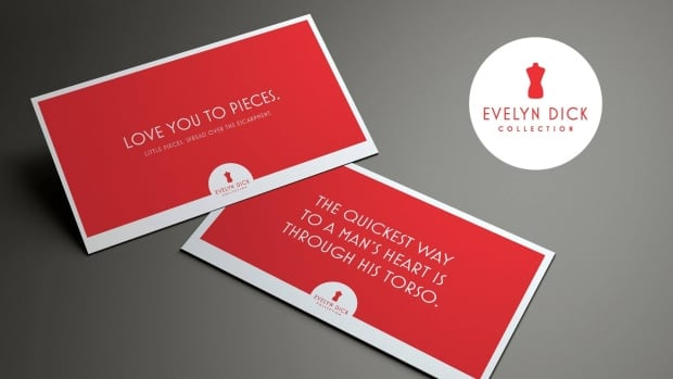 Cards like these are part of the Evelyn Dick merchandise line that will launch at the Hamilton Store during Supercrawl. Designer Chris Farias says products will run from $5 to $25.